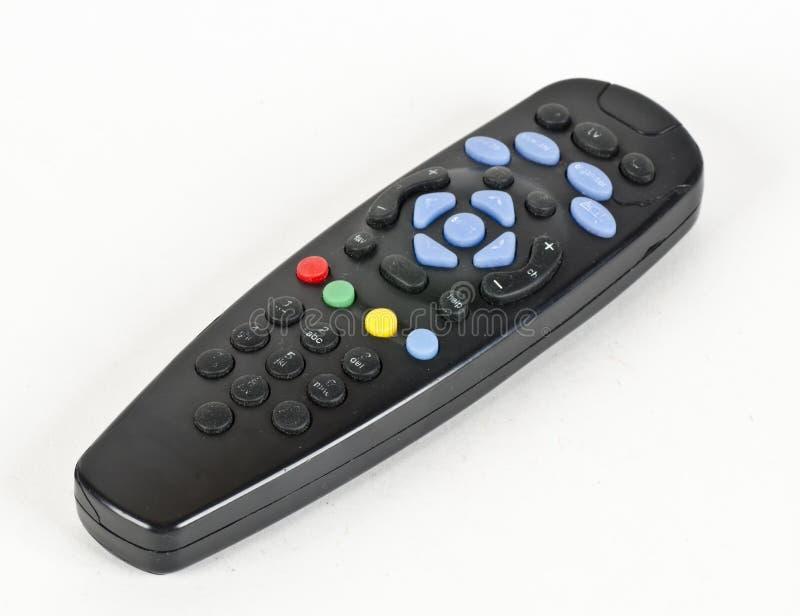 电视的被风化的遥控 免版税库存图片