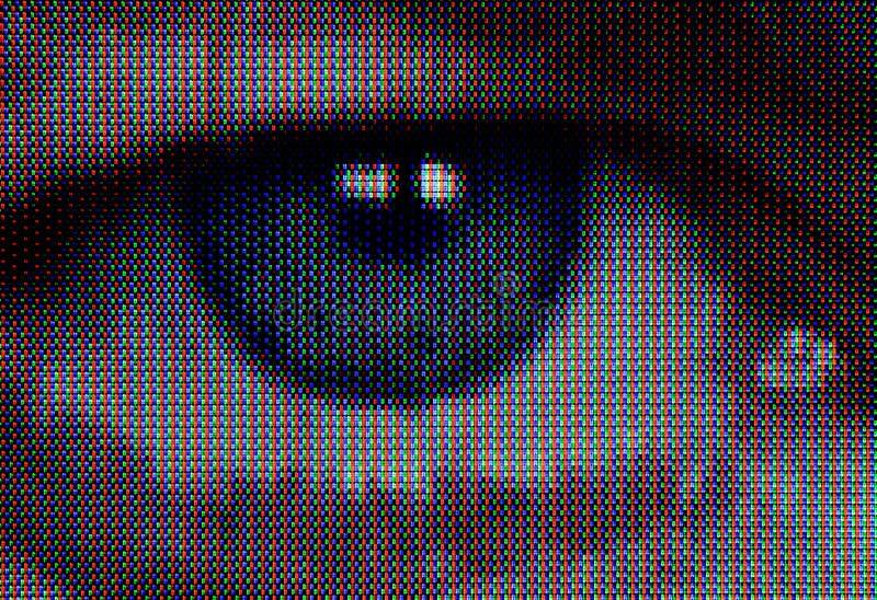 电视眼睛 图库摄影