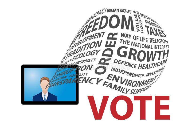 电视竞选活动概念 向量例证