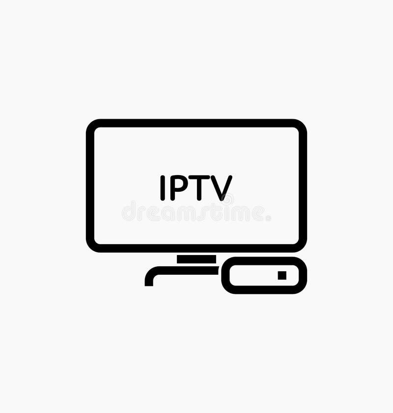 电视箱子/IPTV象 皇族释放例证