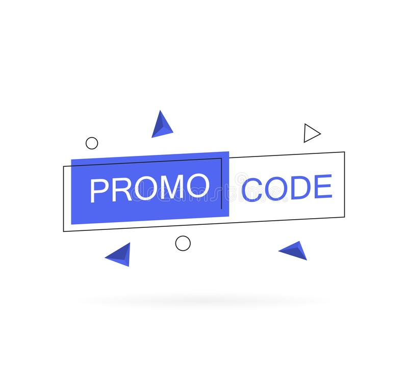 电视节目预告代码,优惠券代码 在平的样式的现代传染媒介例证 库存例证