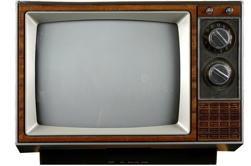 电视葡萄酒 库存照片
