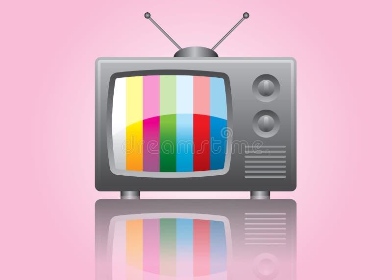 电视葡萄酒 向量例证