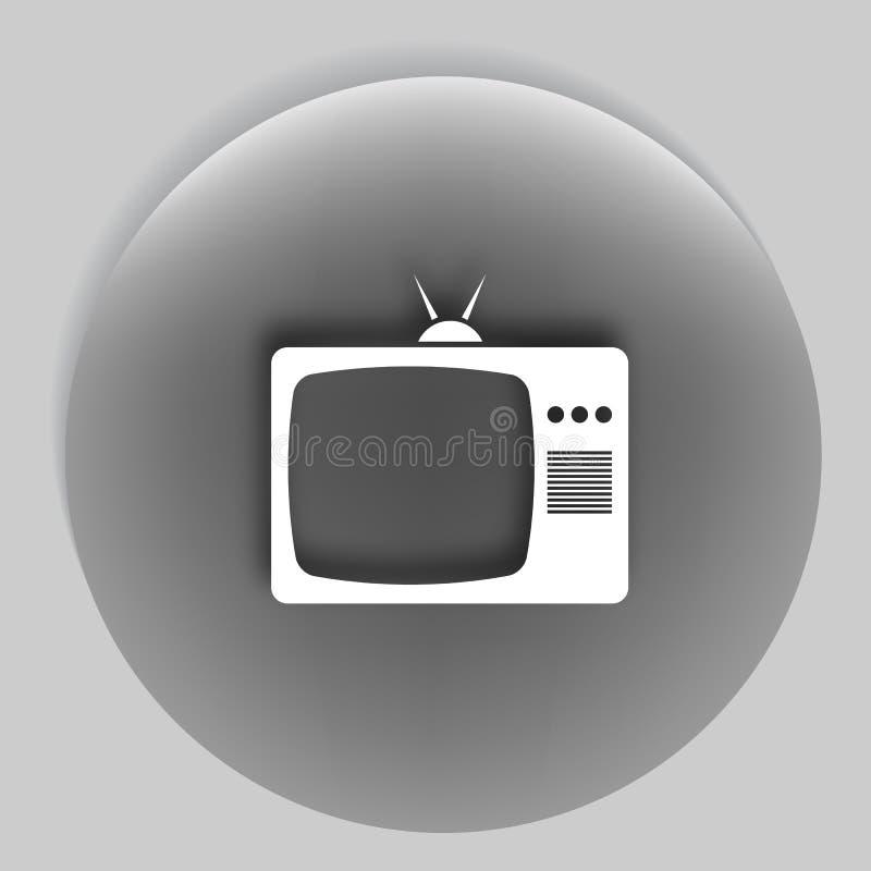 电视象 平的设计样式 传染媒介EPS 10 皇族释放例证