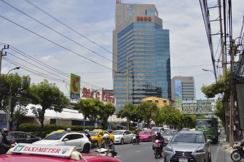 电视频道三泰国办公室 库存图片