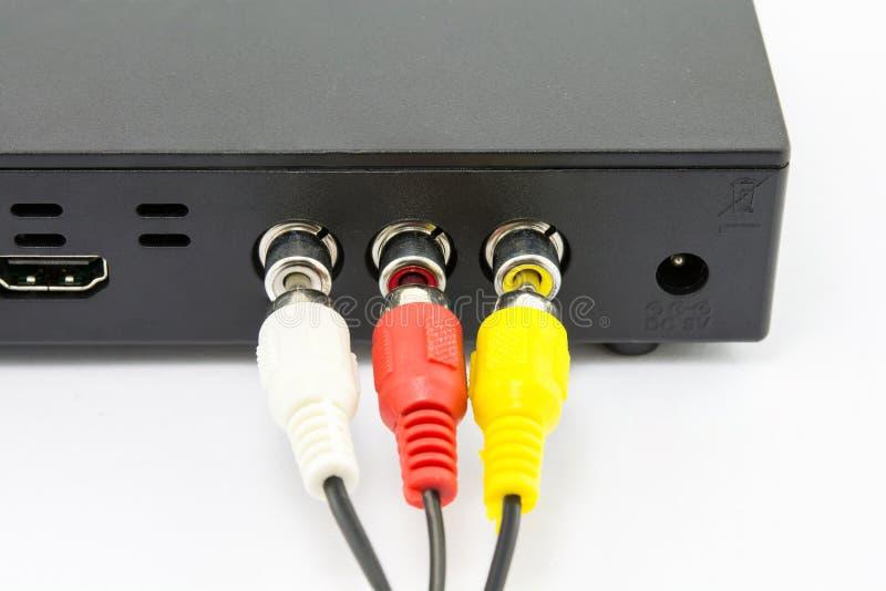 ?? 电视频道线和数据连接 免版税库存图片