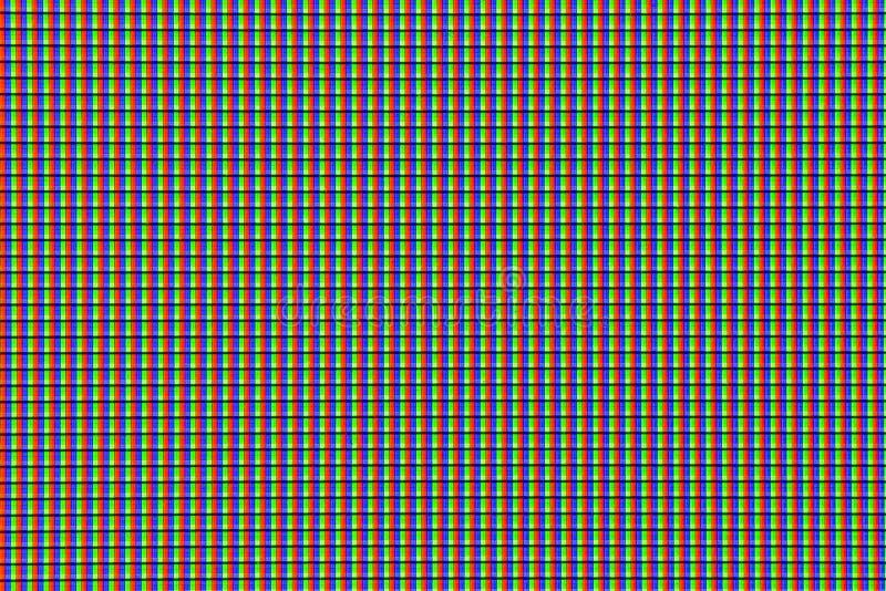 电视颜色映象点宏观细节特写镜头背景 免版税库存图片
