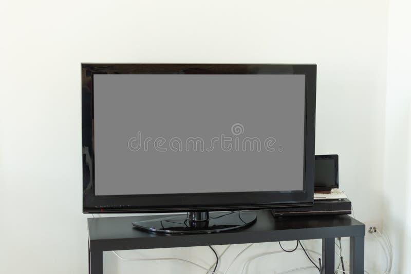 电视黑屏  r 免版税图库摄影