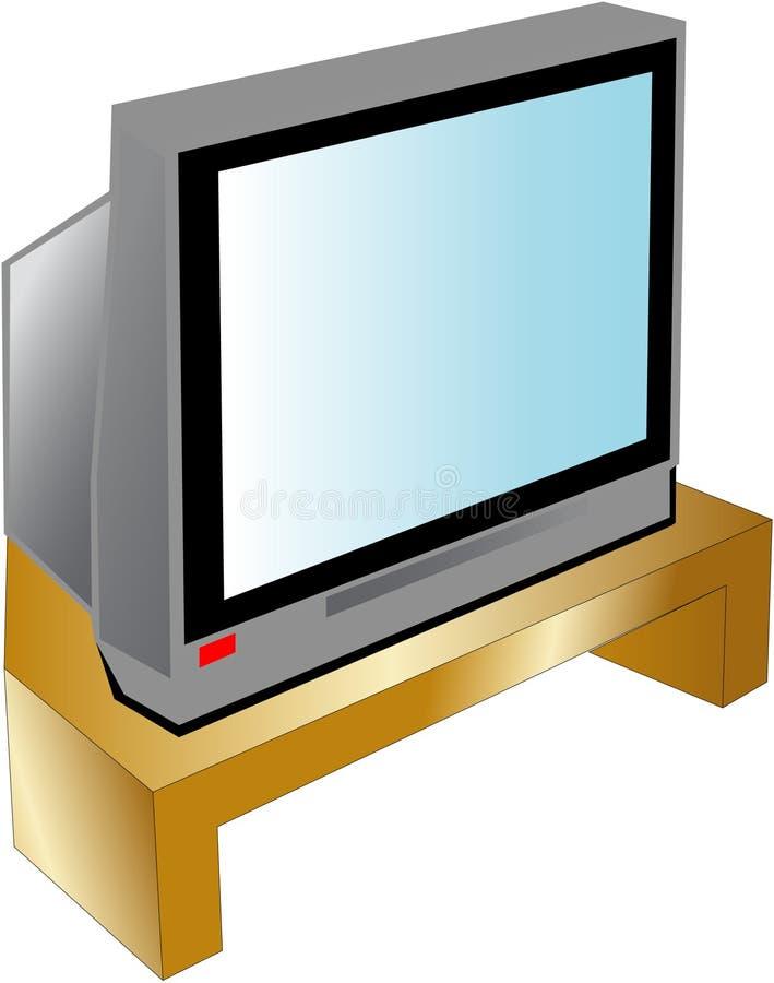 电视 皇族释放例证