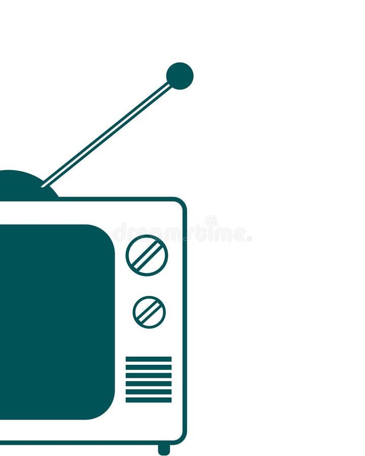 电视 向量例证