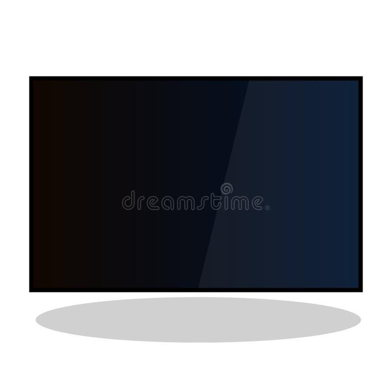 电视lcd宽等离子4k传染媒介舱内甲板 向量例证