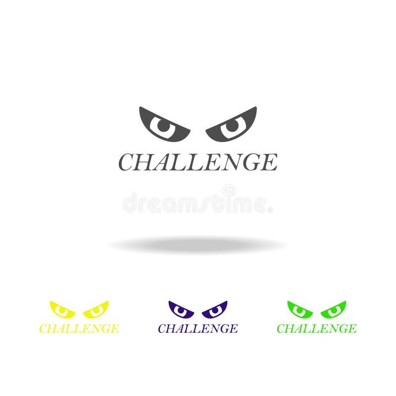 电话上色了象 被克服的挑战例证的元素 标志和标志汇集象网站的,网络设计,机动性 向量例证