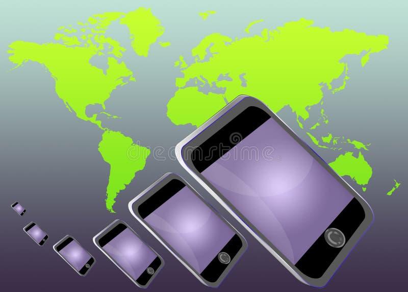 电话世界 向量例证