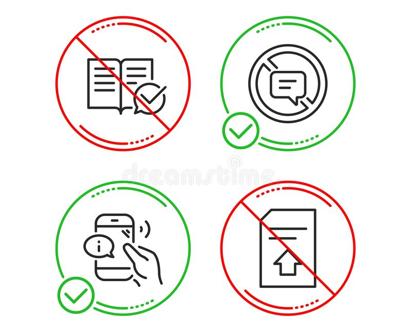 电话中心、批准的文献和中止谈的象集合 加载文件标志 ?? 向量例证
