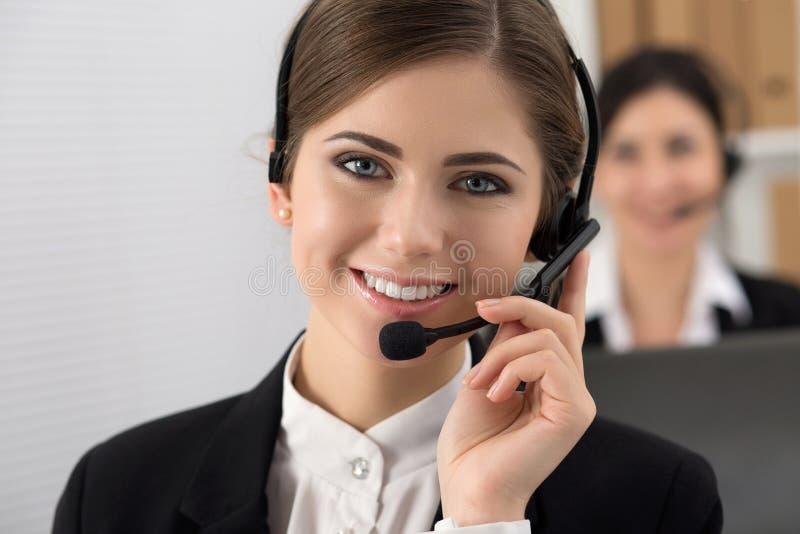 电话中心工作者画象  免版税库存图片