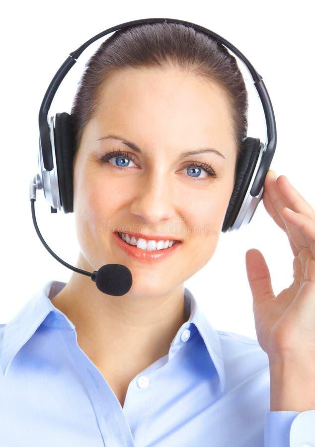 电话中心操作员 免版税库存图片