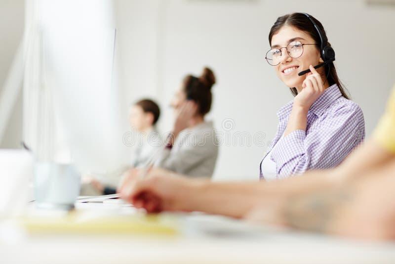 电话中心职员 免版税库存图片