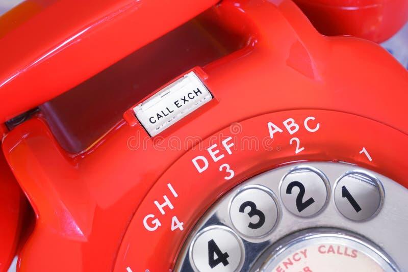 电话交换轮循拨号电话 免版税库存照片
