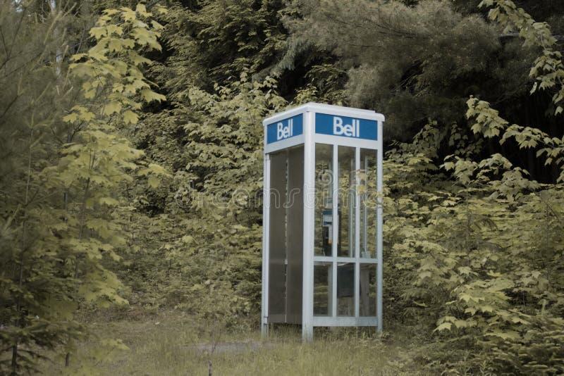 电话亭在阿尔根金族公园 免版税库存照片