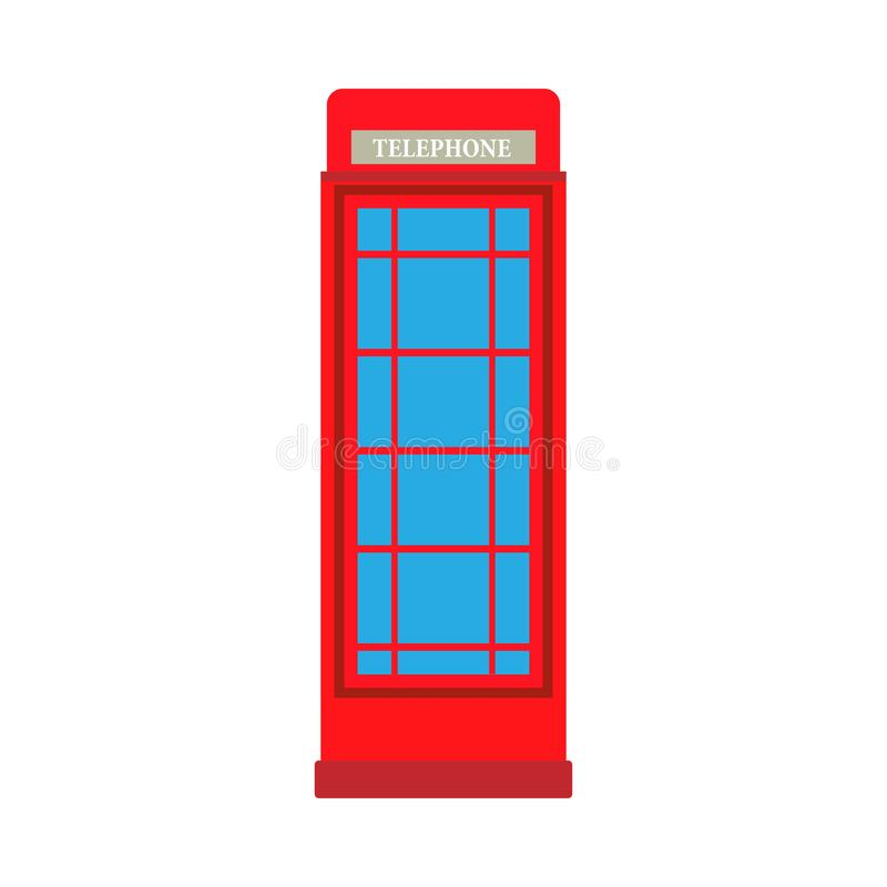 电话亭红色企业电信元素传染媒介象 伦敦公开街道箱子隔绝了白色 皇族释放例证