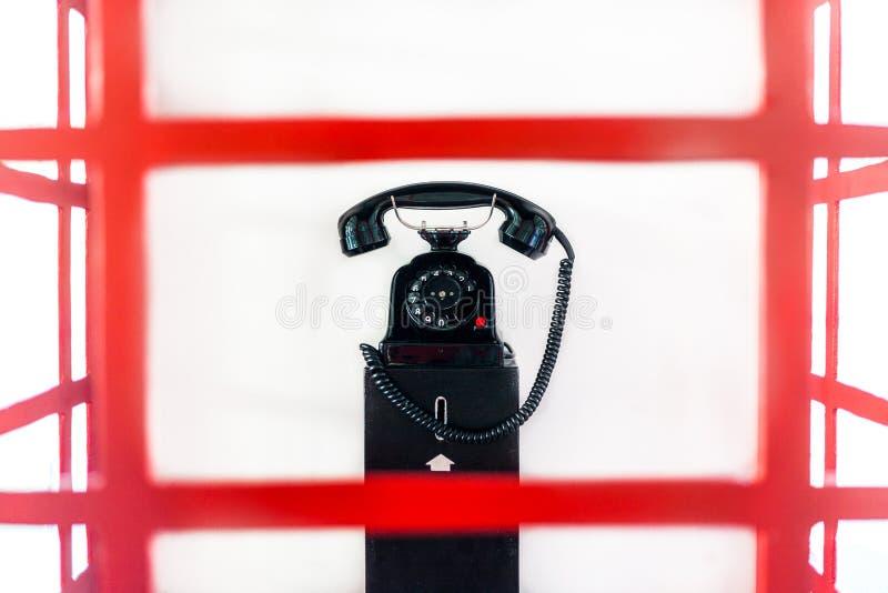 电话亭英语 库存照片