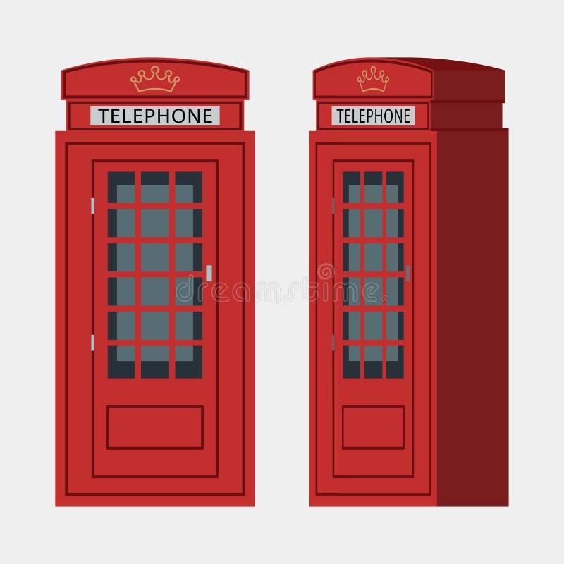 电话亭,伦敦 库存例证