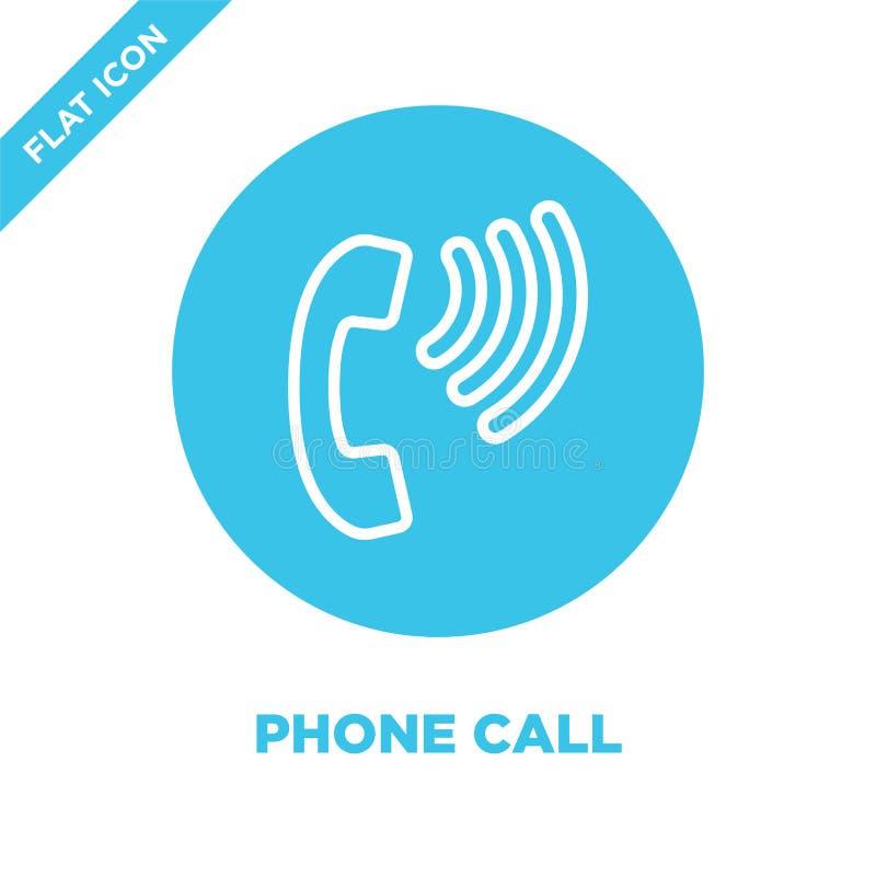 电话从可及性汇集的象传染媒介 稀薄的线电话概述象传染媒介例证 线性标志为 库存例证