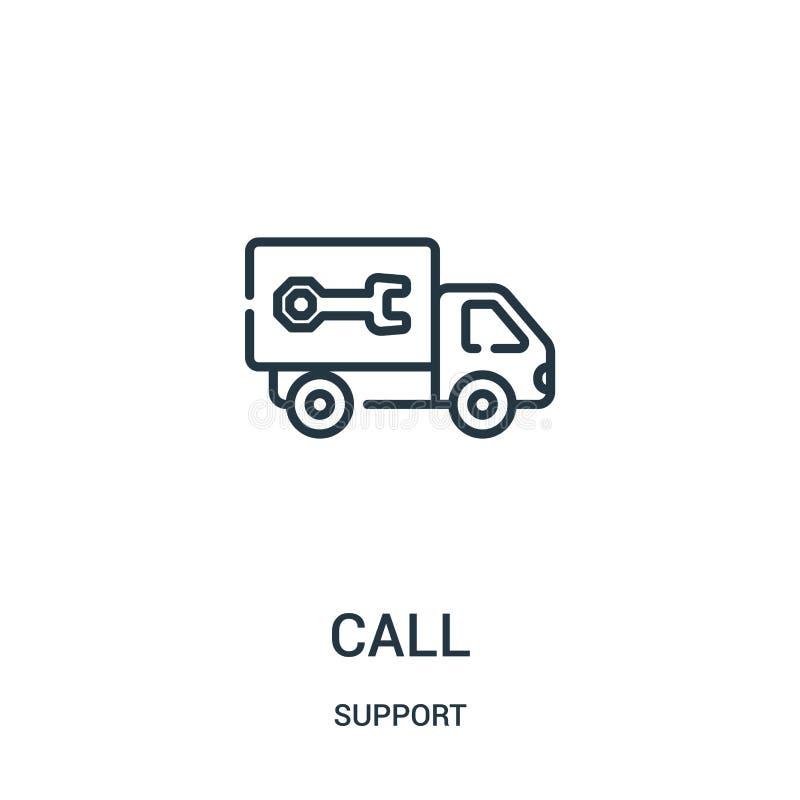 电话从支持汇集的象传染媒介 稀薄的线电话概述象传染媒介例证 线性标志为在网和机动性的使用 库存例证