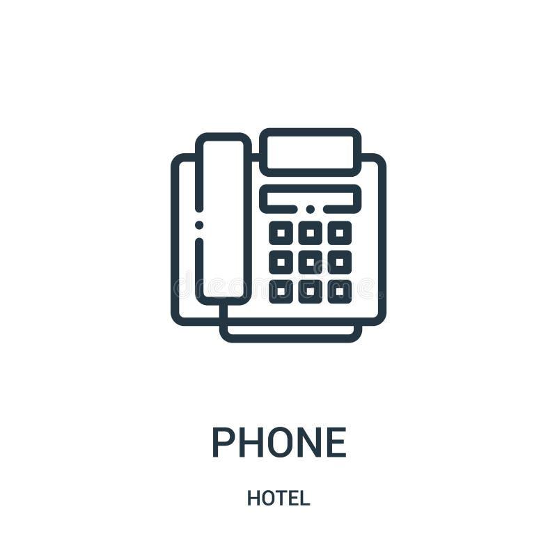 电话从旅馆汇集的象传染媒介 稀薄的线电话概述象传染媒介例证 皇族释放例证