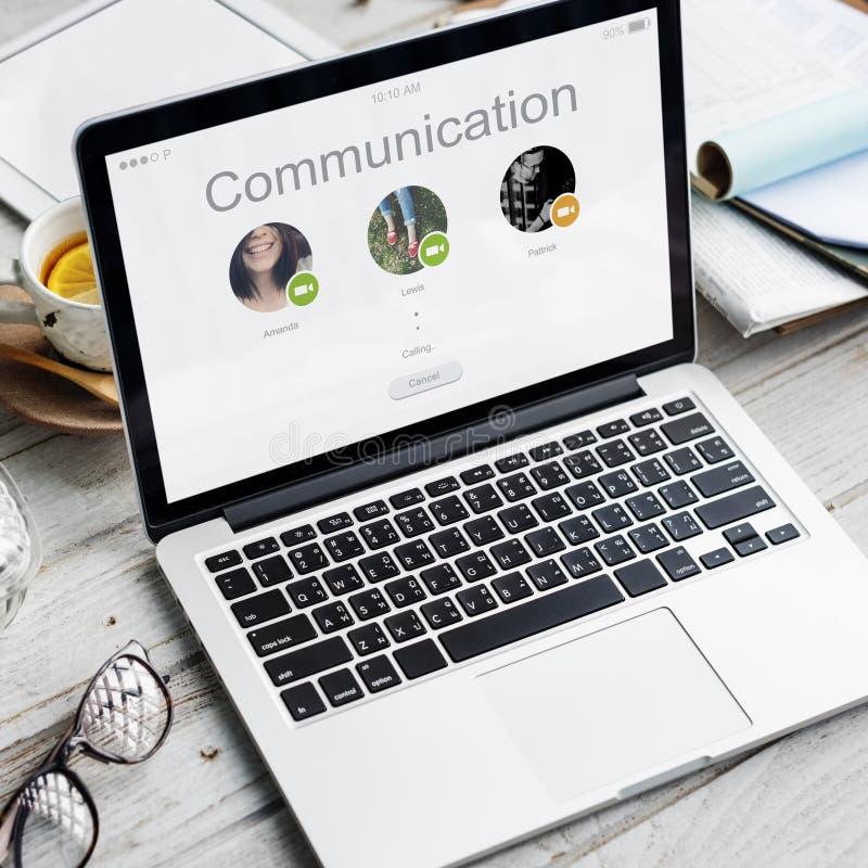 电话会议网络通信概念 库存照片