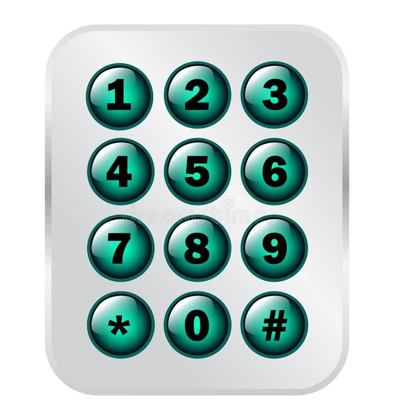 电话号码钥匙垫 向量例证