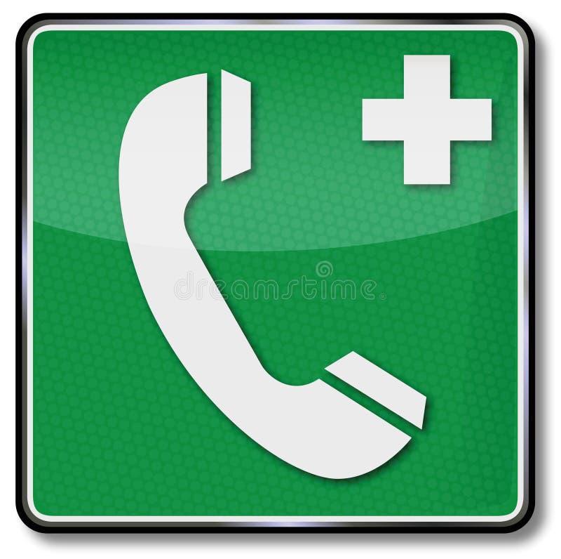 电话和啼声医疗帮助的 向量例证