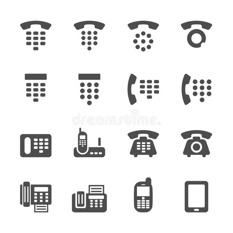 电话和电传象集合,传染媒介eps10 皇族释放例证