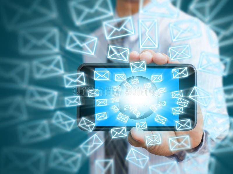 电话和电子邮件象 免版税库存照片