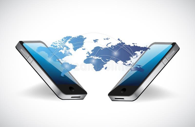 电话和网络通信概念 向量例证