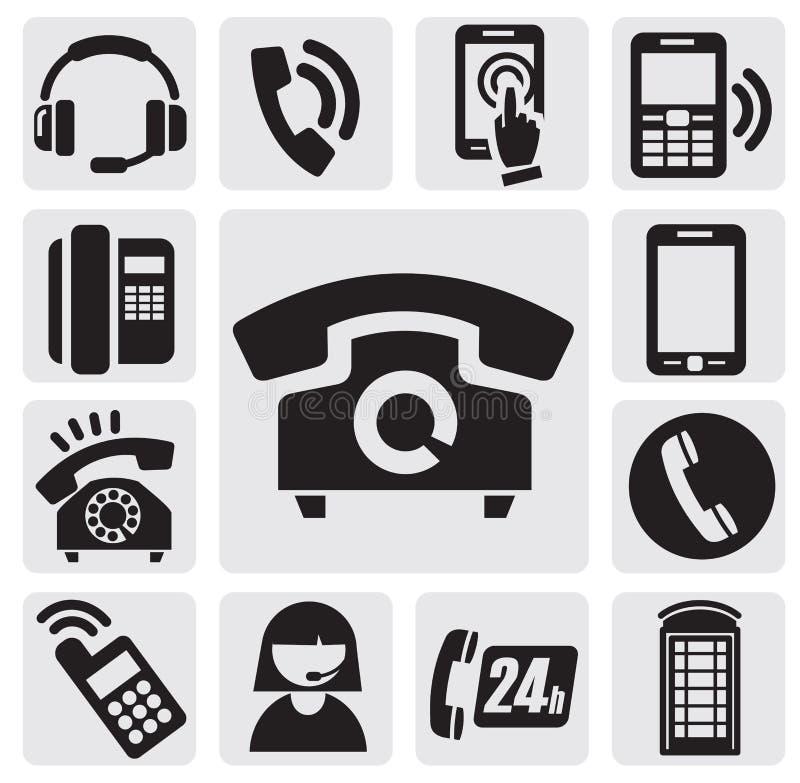 电话图标 向量例证