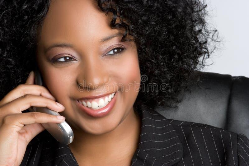 电话妇女 图库摄影