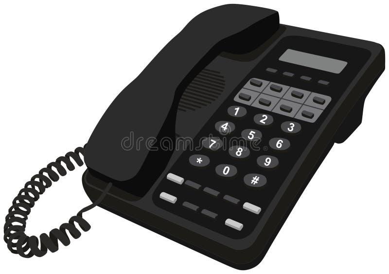 电话家庭办公室书桌电话对象 皇族释放例证