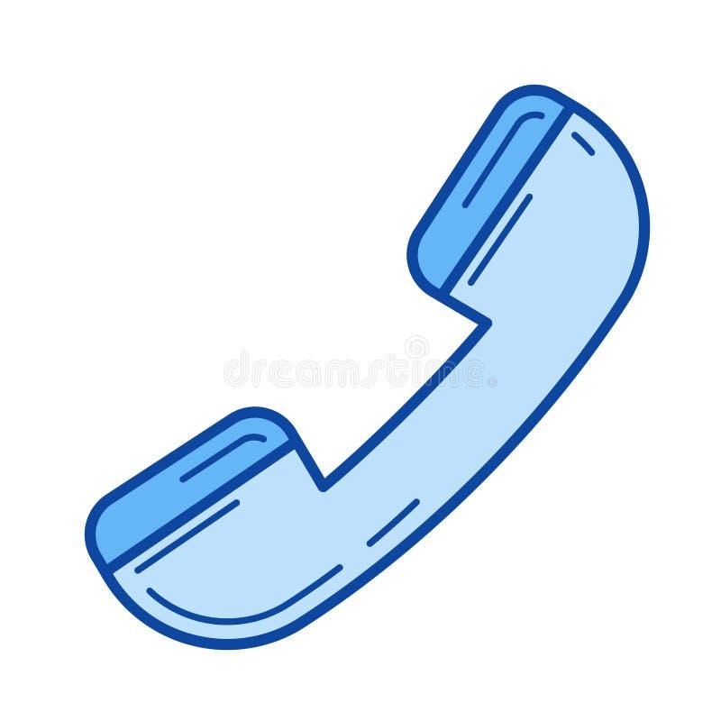 电话手机线象 皇族释放例证