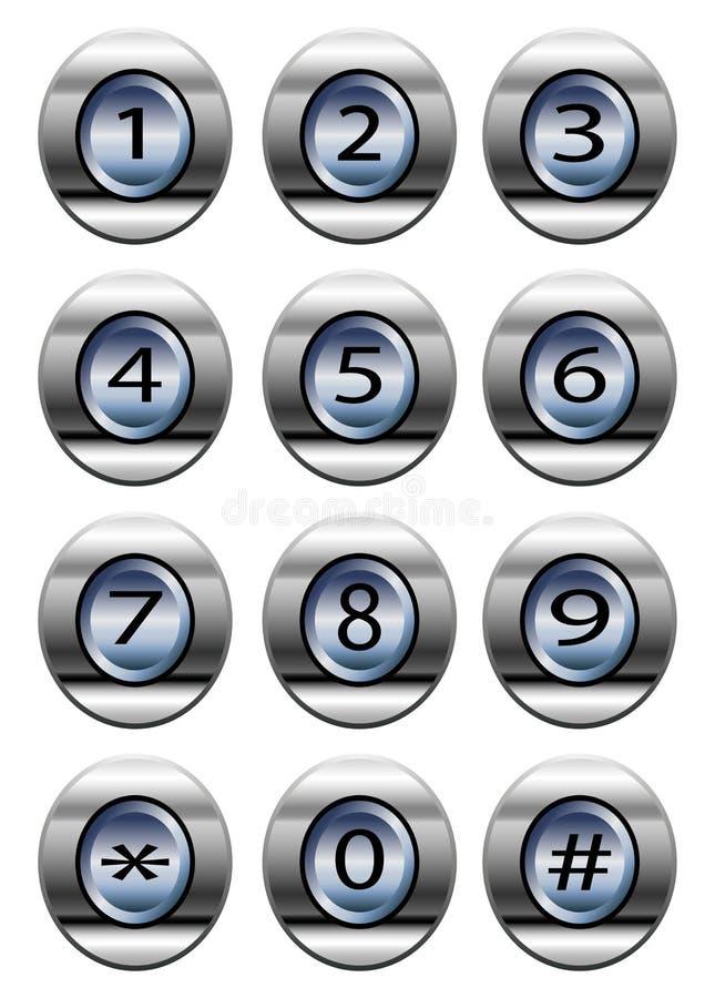 电话拨号盘垫 向量例证