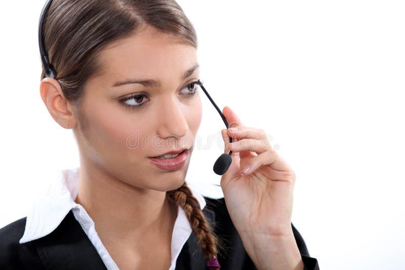 电话接线员 图库摄影