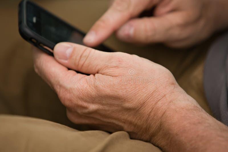 电话接触使用 免版税库存图片