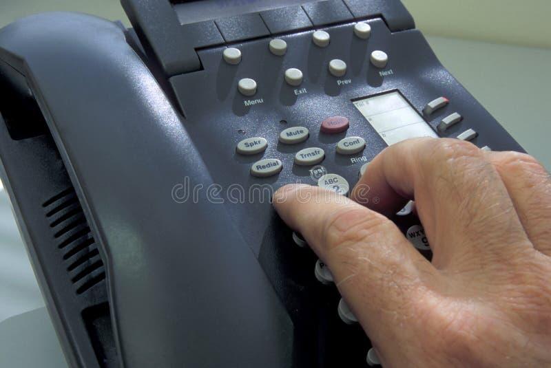 电话推销 库存照片