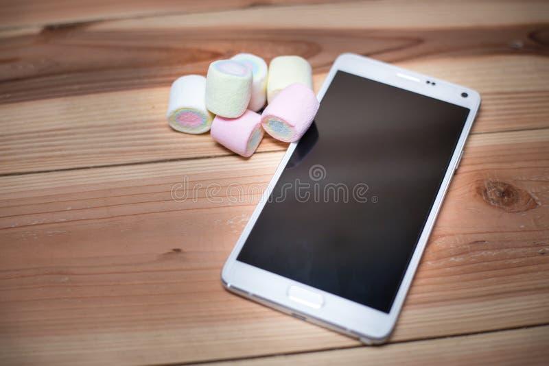 电话机器人M (6 0) 是蛋白软糖 库存图片
