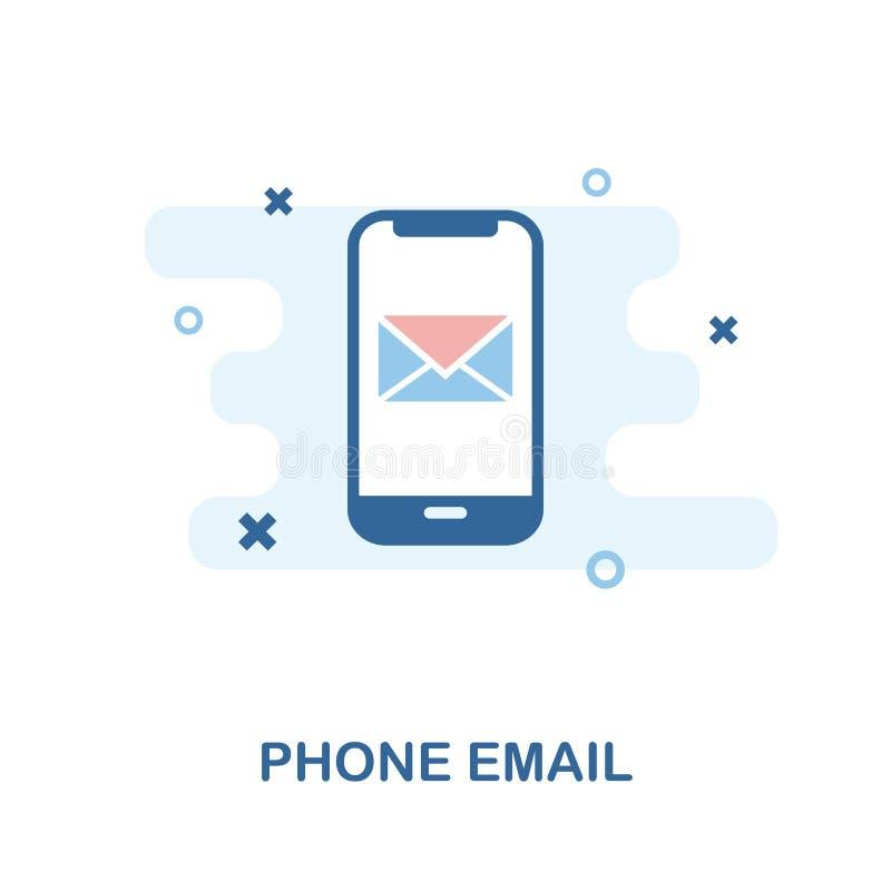 电话电子邮件象 简单的元素例证 从手机汇集的电话电子邮件映象点完善的象设计 使用网的d 皇族释放例证