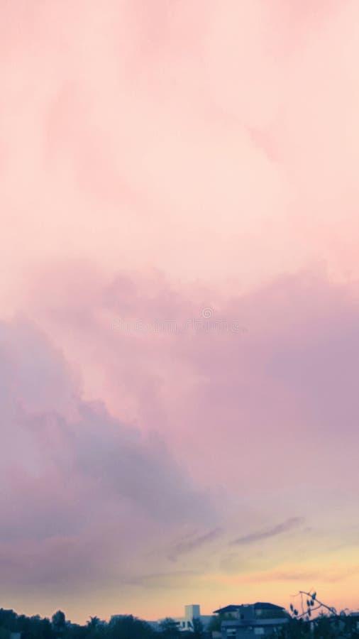电话的天空背景 库存图片