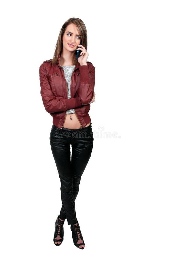 电话的妇女 库存图片