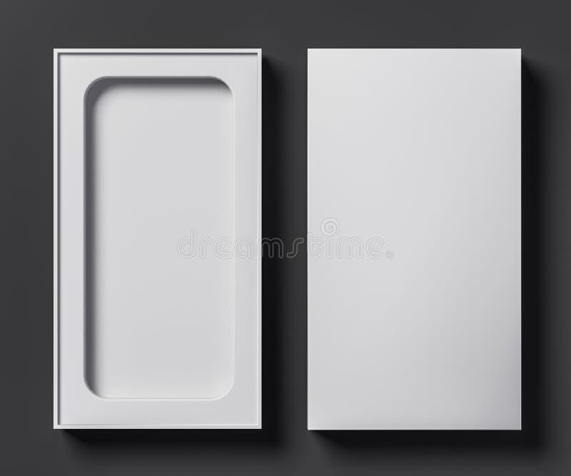 电话的- 3D白色箱子模板例证 皇族释放例证