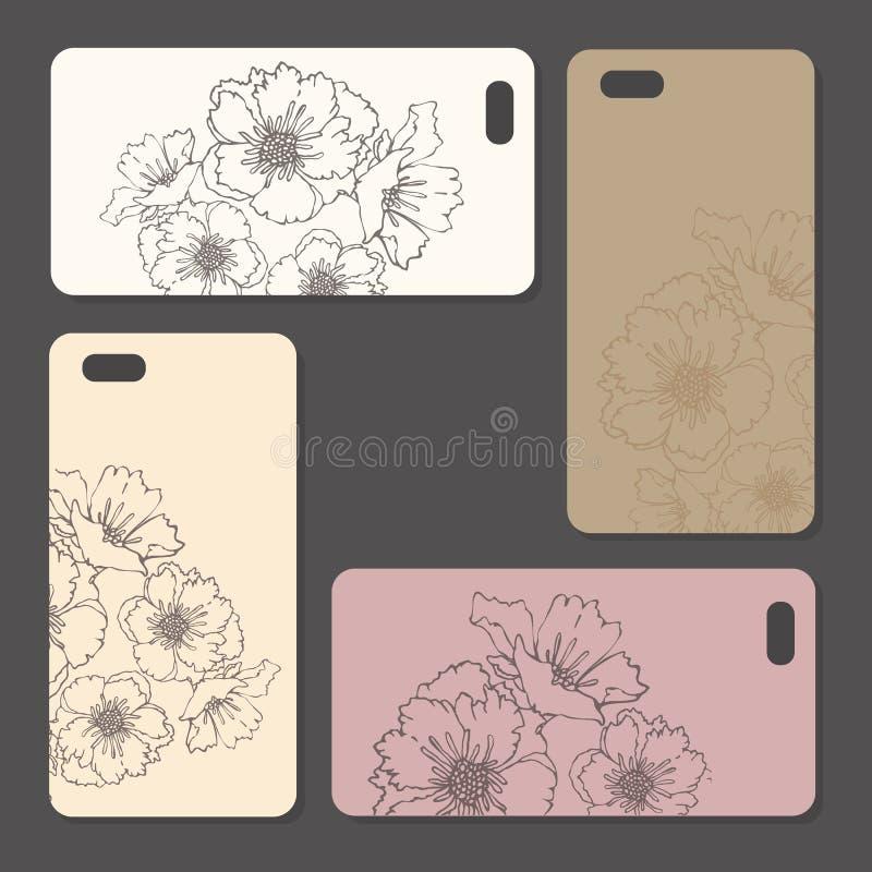 电话盒,精美花卉样式 向量例证