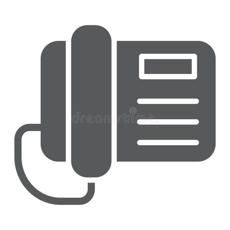 电话纵的沟纹象、电话和通信,电话标志,向量图形,在白色背景的一个坚实样式 库存例证